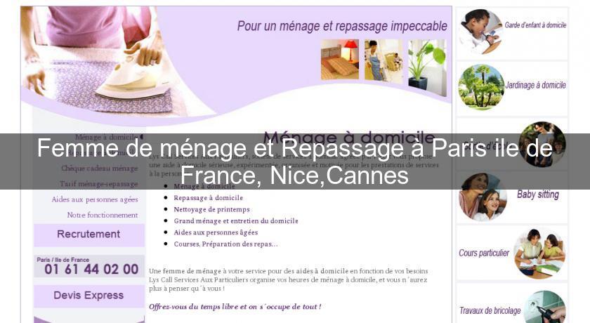 Aide à domicile, ménage et repassage de votre linge à Nice