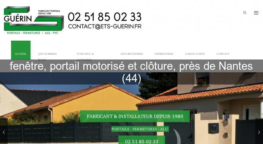 fenêtre, portail motorisé et clôture, près de Nantes (44) Cloture de ...