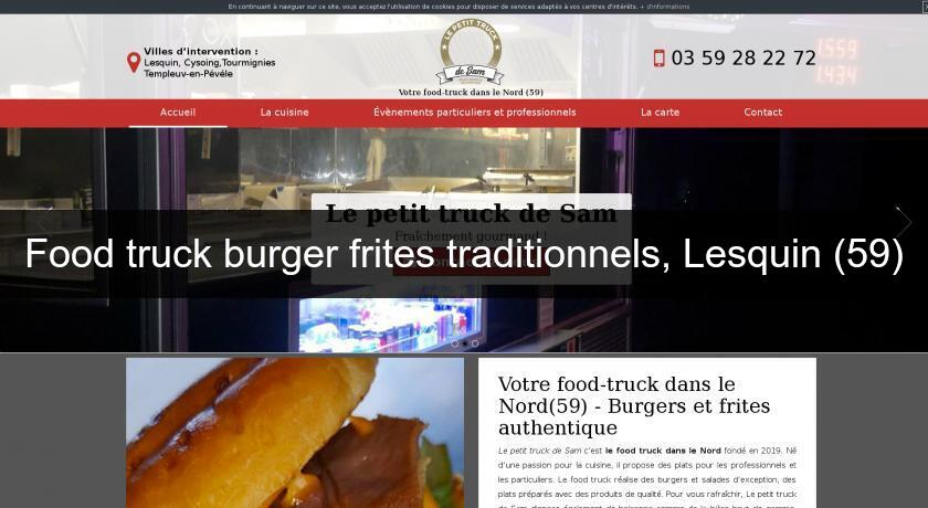 Food truck burger frites traditionnels, Lesquin (59)