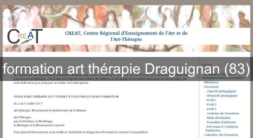 Formation Art Thrapie Draguignan  Formation Professionnelle