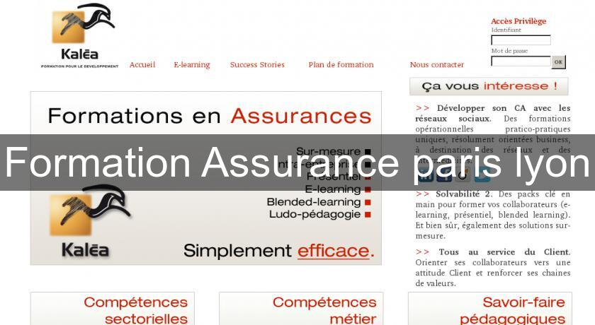 Formation Assurance paris lyon