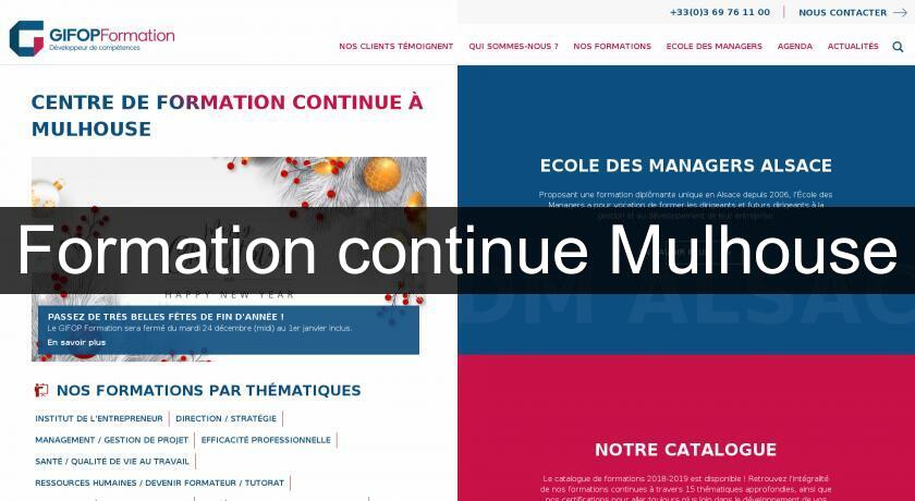 Formation continue Mulhouse