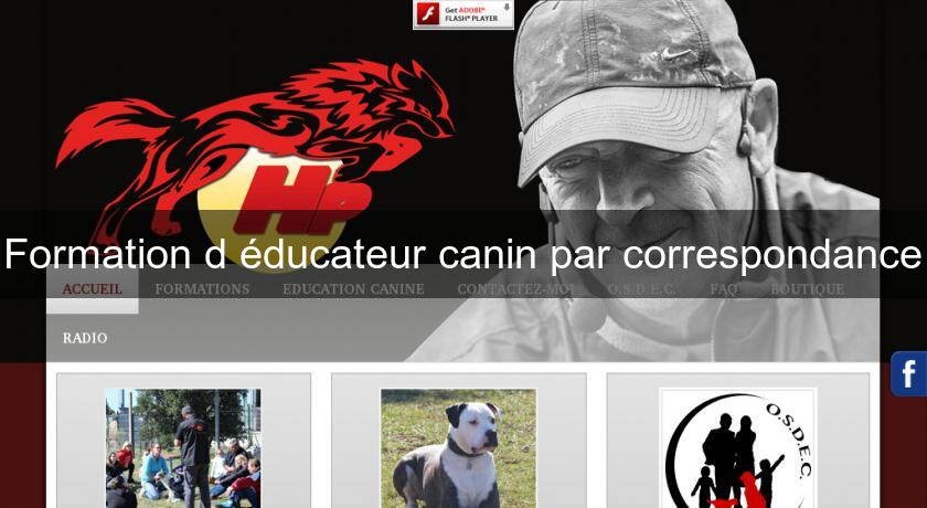 Formation d'éducateur canin par correspondance Association