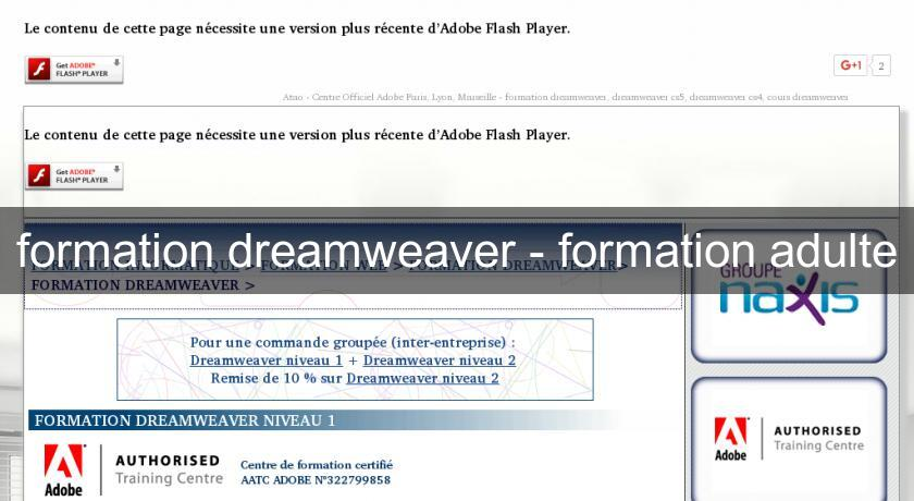 formation dreamweaver - formation adulte