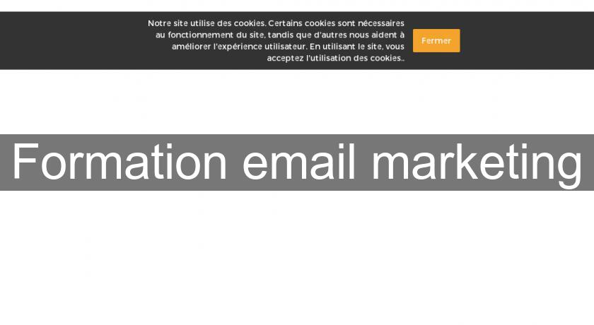 Formation email marketing