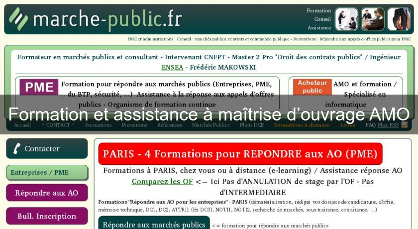 Formation et assistance ma trise d ouvrage amo appel d offre for Contrat de maitrise d ouvrage