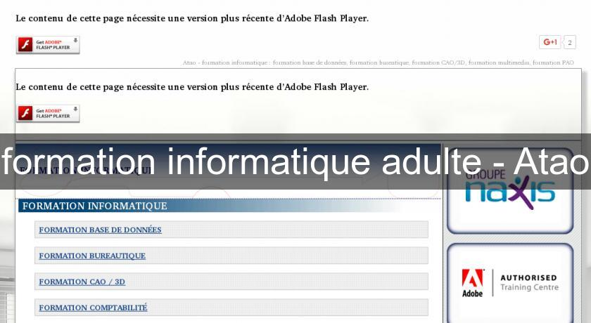 formation informatique adulte - Atao
