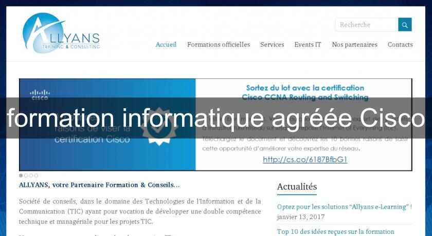 formation informatique agréée Cisco