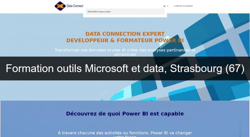 Formation outils Microsoft et data, Strasbourg (67)