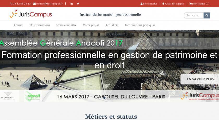 c3d25cfa220 Formation professionnelle en gestion de patrimoine et en droit Formation  continu