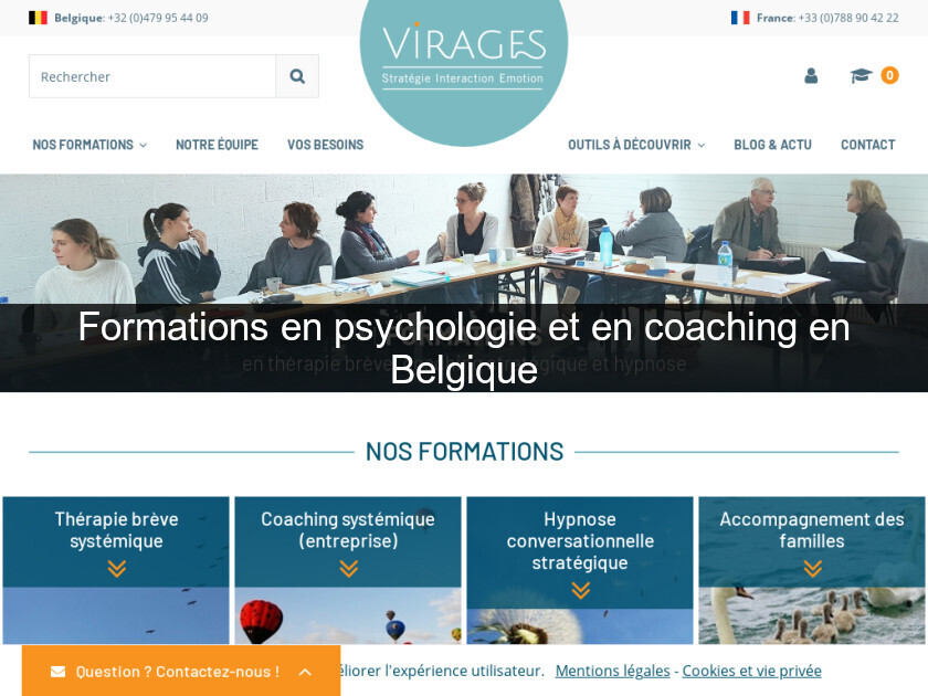 Formations en psychologie et en coaching en Belgique