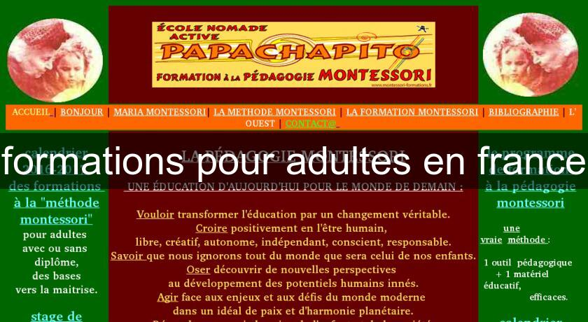 formations pour adultes en france