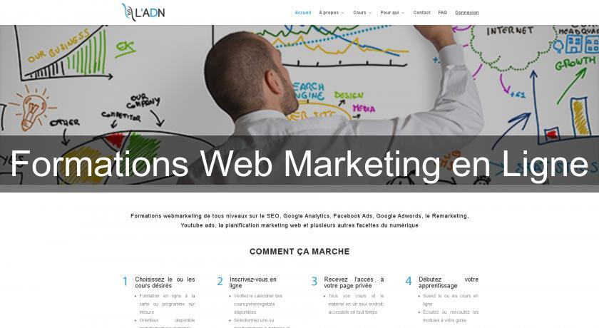 Formations Web Marketing en Ligne
