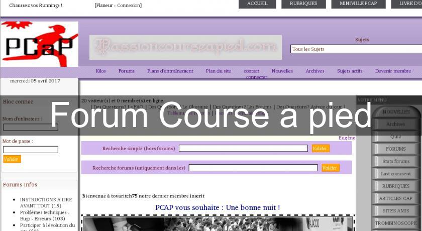 course a pied forum