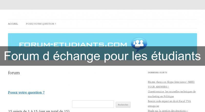 site d echange