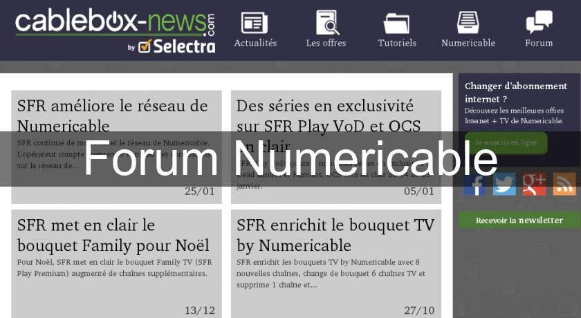 Forum Numericable