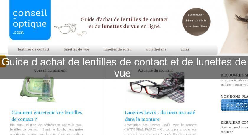 db8fd32fffb3ab Guide d achat de lentilles de contact et de lunettes de vue Ophtalmologie