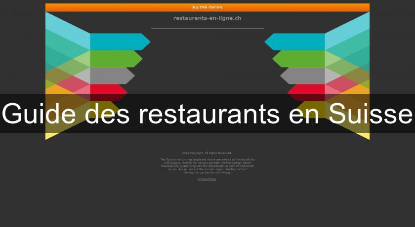 Guide des restaurants en Suisse