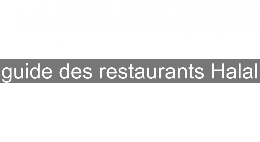 guide des restaurants Halal
