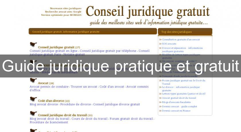 c9336339947 Guide juridique pratique et gratuit Juridique