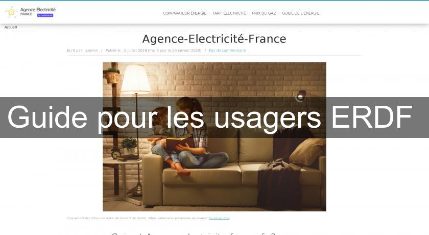 Guide pour les usagers ERDF
