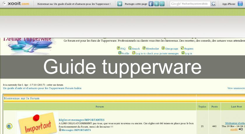 Guide tupperware