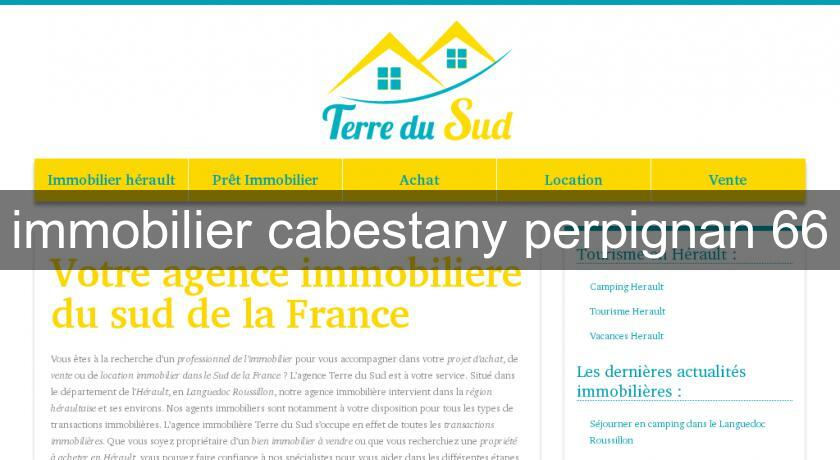 immobilier cabestany perpignan 66