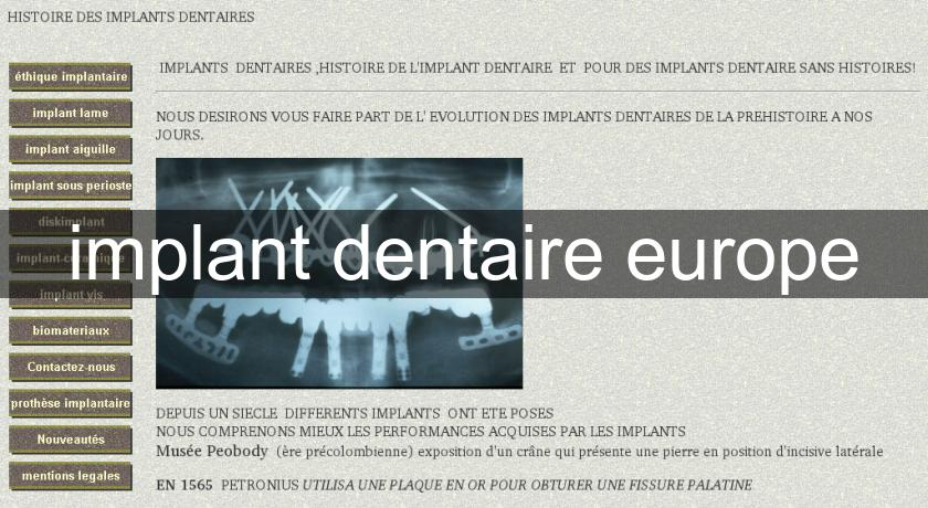 implant dentaire europe
