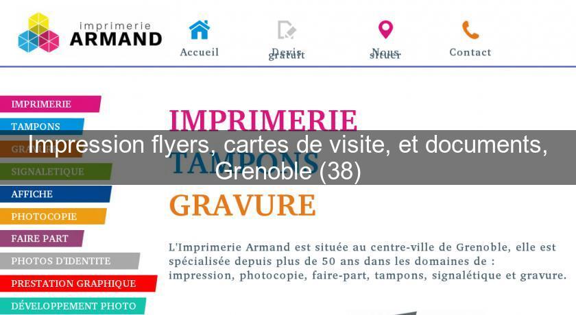 Impression Flyers Cartes De Visite Et Documents Grenoble 38 Imprimerie Photo