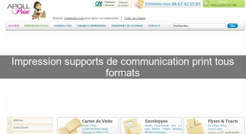 Impression supports de communication print tous formats