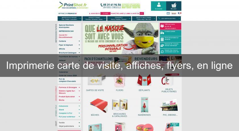 Imprimerie Carte De Visite Affiches Flyers En Ligne Et Photo