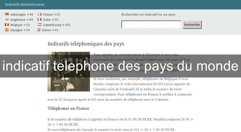 Indicatif Telephone Des Pays Du Monde T 233 L 233 Com