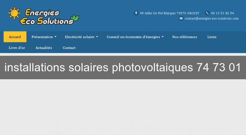installations solaires photovoltaiques 74 73 01