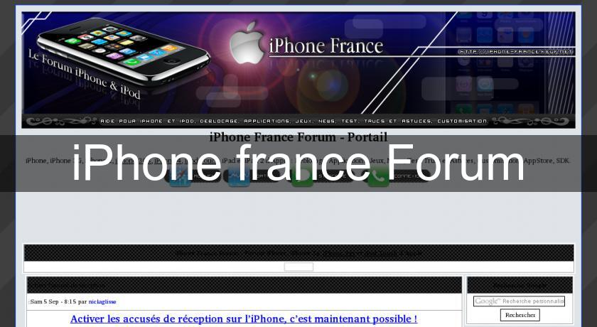 iPhone france Forum