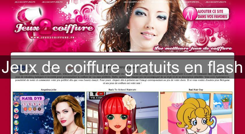 Jeux de coiffure gratuits en flash flash java - Jeux gratuit de cuisine et de coiffure ...