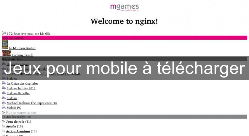 Jeux pour mobile t l charger jeux - Telecharger les jeux de cuisine gratuit ...