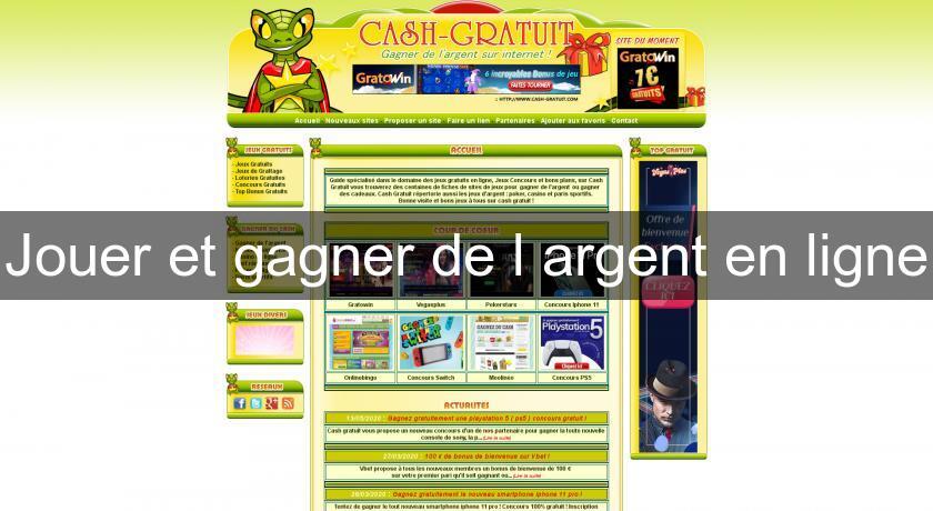 jeux en ligne ou on peut gagner de l'argent