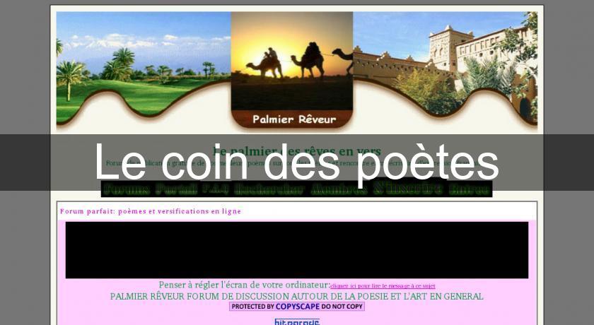 Le Coin Des Poètes Auteur