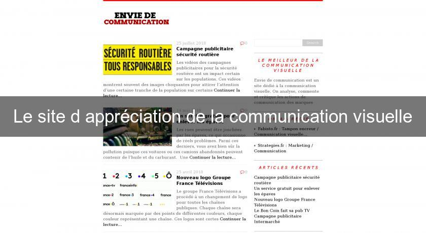 Le site d'appréciation de la communication visuelle