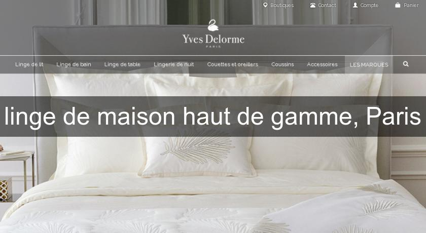 linge de maison haut de gamme paris d coration chambre. Black Bedroom Furniture Sets. Home Design Ideas