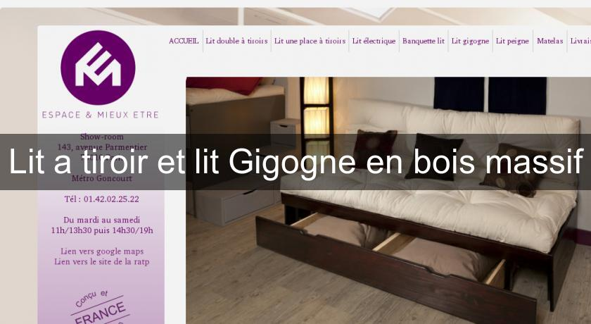 lit a tiroir et lit gigogne en bois massif lit pratique. Black Bedroom Furniture Sets. Home Design Ideas