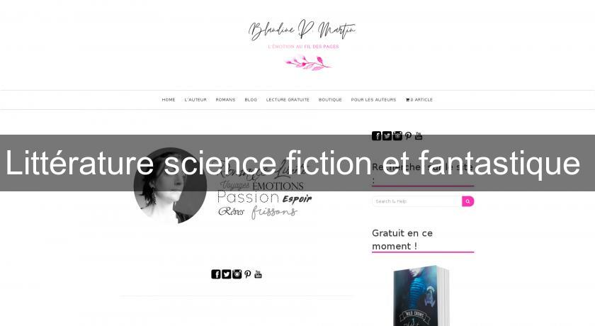 Littérature science fiction et fantastique