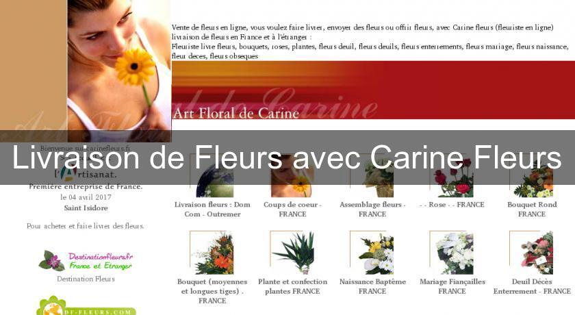 054db4524e007 Livraison de Fleurs avec Carine Fleurs Fleuriste