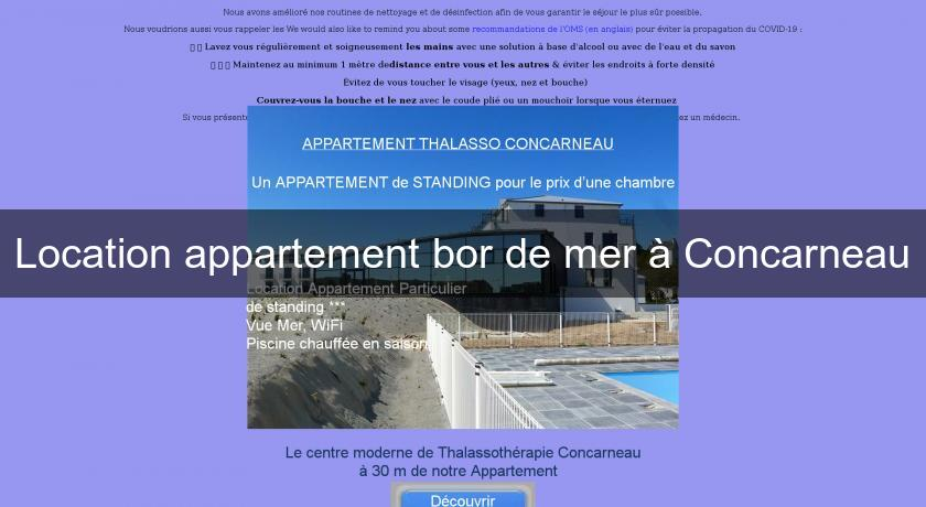 Location appartement bor de mer à Concarneau
