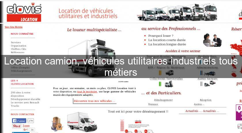 location camion v hicules utilitaires industriels tous m tiers location voiture v hicule. Black Bedroom Furniture Sets. Home Design Ideas