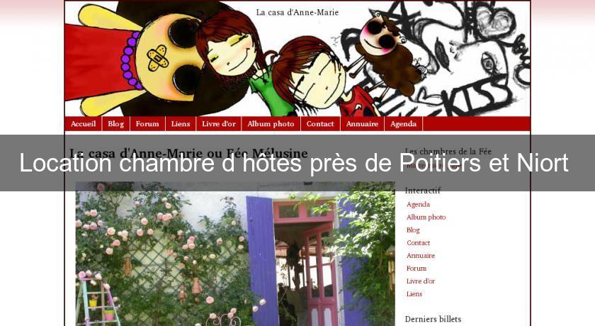 Location Chambre Du0027hôtes Près De Poitiers Et Niort Chambres Hotes