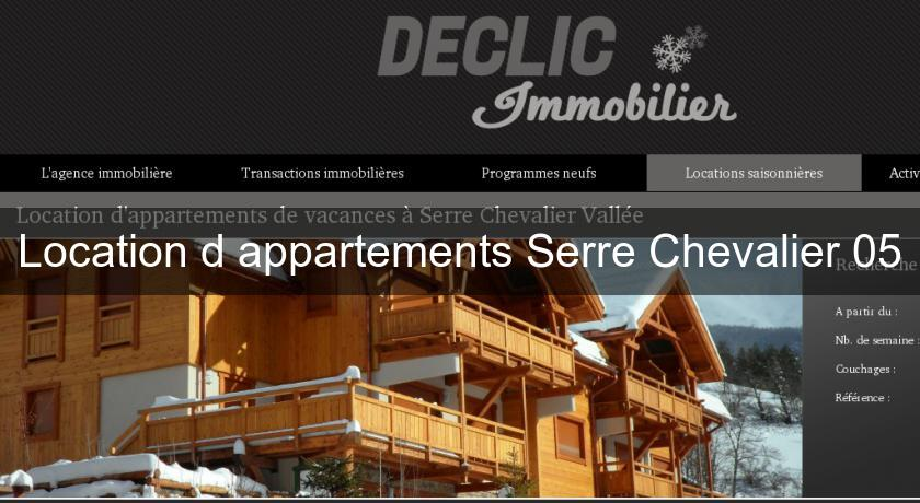 Location d'appartements Serre Chevalier 05