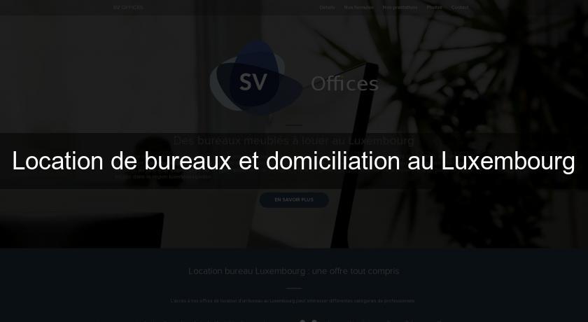 Location de bureaux et domiciliation au luxembourg autres régions
