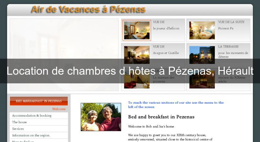 Location De Chambres D Hotes A Pezenas Herault Chambres Hotes