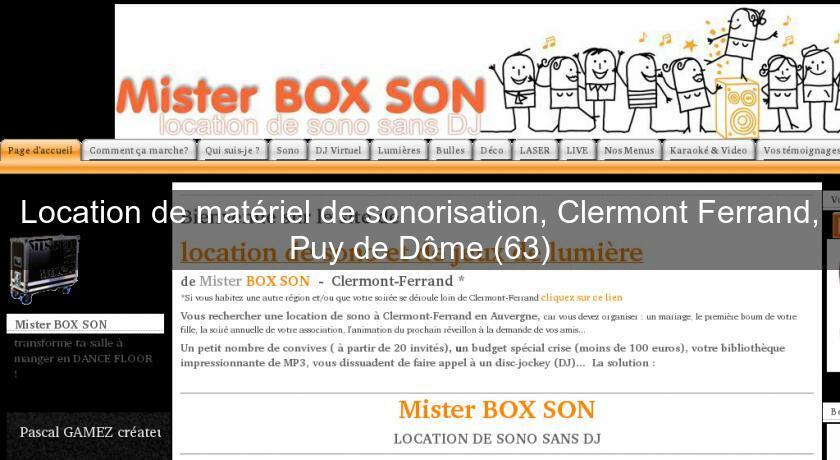 Location de mat riel de sonorisation clermont ferrand - Chambre de commerce de clermont ferrand ...